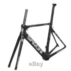 AERO 49cm BB86 Carbon Road Bike Frame Fork Seatpost Race Bicycle 700C