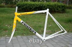 Aster Road Bike Alloy Frame / carbon Fork 56cm YELLOW SHIPPING AIRMAIL