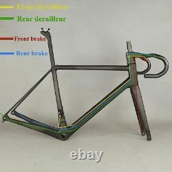 Bicycle Frameset All Inner Cable Disc Road Carbon Frame Include Fork Seatpost