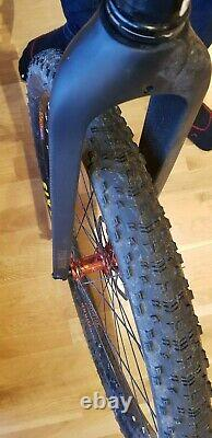 Charge Cooker 29 Tange Infinity Steel Frame Mountain Bike XL Large Carbon Fork