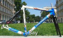 EXC COLNAGO ACTIVE Aluminum / Carbon B-Stay Road Bike Frame + Fork Art Decor 50