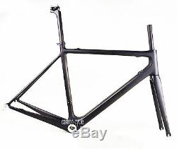 LIGHT 60cm Carbon Road Bicycle Frame Fork BSA Internal Di2 UD Matt Cycling Part