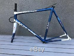 Look 555 Carbon frame, fork and FSA headset NOS