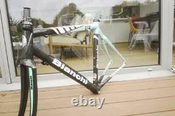 Near Mint Bianchi 928 Carbon L 3d Reparto Corse Frame And Forks Size 55