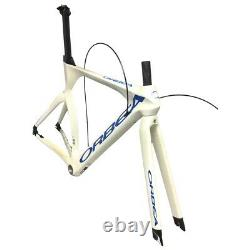 Orbea Ordu Carbon Fiber Time Trial Frame 700c + Fork and Seatpost 51cm White New