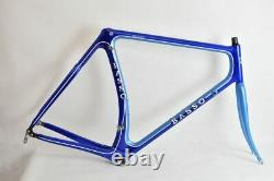 RARE basso LAGUNA old carbon road frame and steel fork! GOOD CONDITION