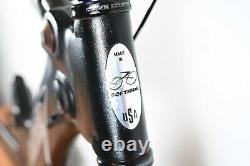 Small Softride TT Bicycle Road Bike Frame Rocket Wing Power Carbon Fork 650c
